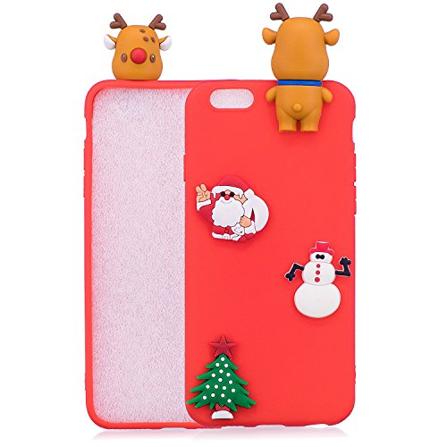 Cover iPhone 6s plus Custodia iPhone 6 plus Silicone Anfire Morbido Flessibile Gel TPU Case per iPhone 6 plus / 6s plus (5.5 Pollici) Ultra Sottile Antiurto Cartoon Protettivo Bumper Shell Ultra Legge Rosa Orso