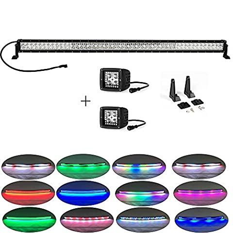 Colorbarz® 300Watt 52zoll Gerade Jagen Led Licht Bar Halo +