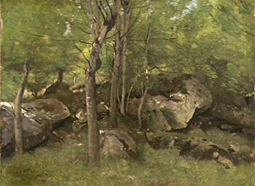 Puzzle 300 Teile - Jean-Baptiste-Camille Corot: Rocks in the Forest of Fontainebleau, 1860-1865 -
