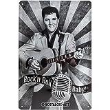 Nostalgic-Art 22178 Celebrities - Elvis - Rock'n Roll Baby, Blechschild 20x30 cm