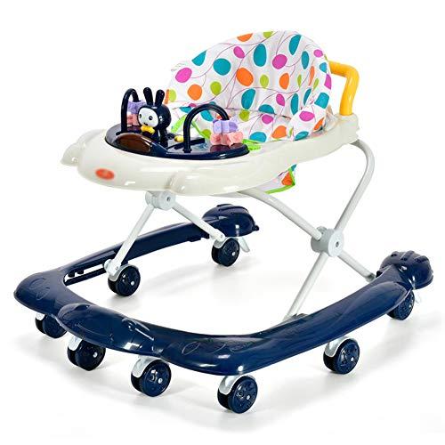 RHSML Baby Activity Walker Multifunktions Kinderrollover PräVention MäDchen Junge 6-18 Monate Baby Walker Einstellbare Baby Walker Multi Color,Chrome