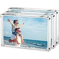 LileZbox - Marco de Fotos (acrílico), Transparente, 9x13CM-3Packs