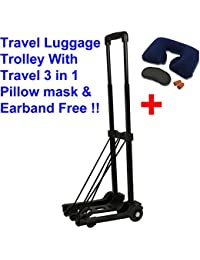 Glive's 2 Wheels Luggage Cart Trolley Adjusted Shopping Cart Travel Luggage Shopping Cart Trolley On Wheels With...