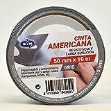 S & M ruban Américaine Gris 50mm X 10m saneaplast- ruban adhésif Américaine isolant–rouleau de 10mètres