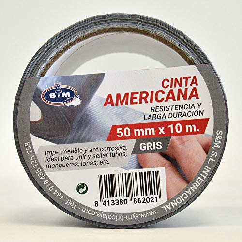 S&M Cinta americana gris 50 mm x 10 m SANEAPLAST-