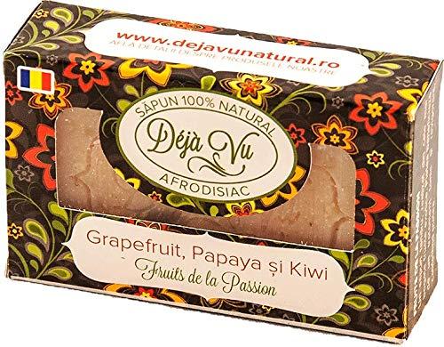 Preisvergleich Produktbild 100% natürliche handgemachte Seife mit Grapefruit,  Kiwi und Papaya (Aphrodisiakum)