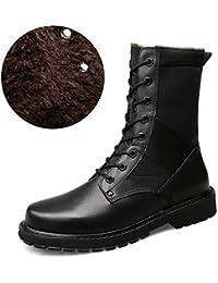 d721d85919f54 Chaussures pour Hommes Chaussures Homme, Bottes d hiver Bottes Martin High  Tube Plus Velvet