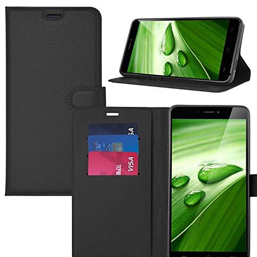 ELTD DOOGEE X9 Pro Case, Wallet Style Flip Cover Case / Hülle / Tasche/ Schutzhülle Für DOOGEE X9 Pro 5.5 Zoll, Schwarz