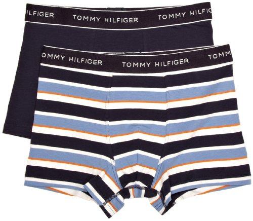 Tommy Hilfiger Herren Boxershort 2 er Pack Perry 2pack Boyshort / 1U87901501, Gr. 48 (S), Blau (468 Blue Yonder/Stripe)