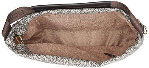 Borbonese Damen Hobo C/T Medium Schultertasche, 102x90x36 cm Braun (Op Classico/marrone)