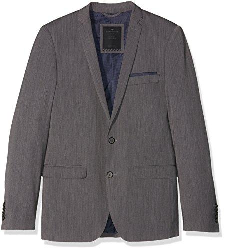 TOM TAILOR Herren Sakkos solid clean Suit Jacket, Grau (Tarmac Grey 2983), 48