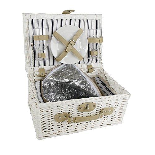 Picknickkorb für Zwei - Weidenkorb - Hochzeitsgeschenk - Geschenk für Paare & Verliebte (mit Gravur)