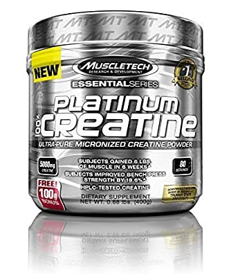 MuscleTech Platinum 100% Creatine Supplement, 400 Gram by MuscleTech from MuscleTech