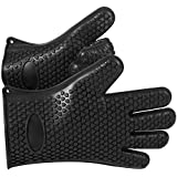 Karp Oven Gloves - Silicone Baking & Bbq Insulated Gloves (Black Color)