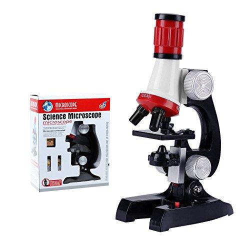 ALEENFOON Kinder Mikroskop, 100x 400x 1200x Vergrößerung Wissenschaft Kinder Mikroskop Kit mit LED Beleuchtung mit Zubehör Set für Schüler und Kinder - 400-decken-beleuchtung