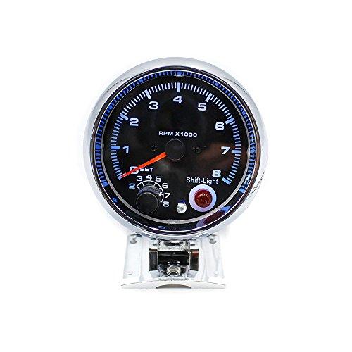 KKmoon 12V Tacómetro Medidor 3.75 Pulg 0-8000 RPM con 7 Colores LED Luz para Coche