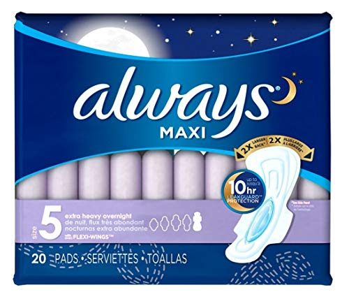 Always Extra Heavy Overnight Maxi Pads with Flexi-Wings
