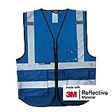 Salzmann 3M Arbeitsweste, mit 3M Reflektierende Material, mit Multi-Taschen und...