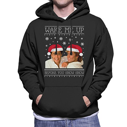 Wake Me Up Before You Snow Snow Wham Christmas Knit Women/'s T-Shirt