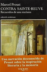 Contra Sainte Beuve par Marcel Proust