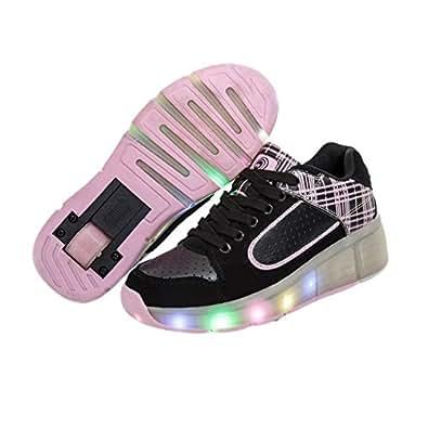 sommer atmungsaktives kind led heelys roller skate schuhe mit r der m dchen jungen licht wheelys. Black Bedroom Furniture Sets. Home Design Ideas