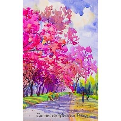 Carnet de Mots de Passe: A5 - 98 Pages - 136 - Watercolor - Paysage Fleuri
