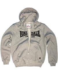 Lonsdale Herren Sweatshirt Sweatshirt Slim Fit Hooded Zip Nottingham