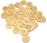 #7: Nimida Tradelink Wooden Button Dia 2 cm (Pack of 50)