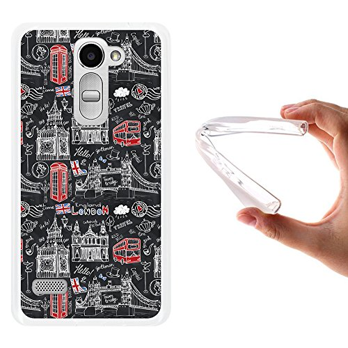 WoowCase LG Ray Hülle, Handyhülle Silikon für [ LG Ray ] London Symbole Handytasche Handy Cover Case Schutzhülle Flexible TPU - Transparent