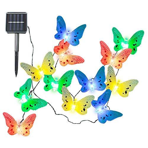 Schmetterling solarbetriebene Lichterkette für Weihnachten Garten Dekoration