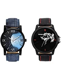 Amser Set Of 2 Analogue Watches For Men And Boys(145-162)