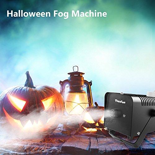 theefun 400W portátil Halloween y Fiesta Máquina de niebla con verkabelter mando a distancia