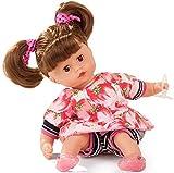 Götz 1820925 Muffin Strawberry Fields Puppe - 33 cm große Babypuppe mit Weichkörper, braune...