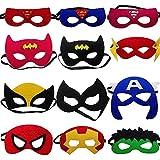 Superhelden-Masken, Superhelden-Partyzubehör, Superhelden, Cosplay-Masken, für Kinder oder Jungen ab 3 Jahren, 12 Stück