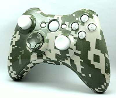 Digital Camouflage Custom Hydro Dipped XBox 360 Wireless Controller Shell Control Blast