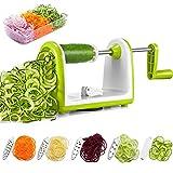 DEIK Spiralizzatore di Verdure a 5 Lame, Taglia Verdure a Spaghetti, Best Zucchini Noodle e Veggie Pasta e Spaghetti Maker for Low Carb Paleo Gluten-free Meals