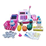 #5: Mayatra's Realistic Educational Cash Register Toy Supermarket Set (Color May Vary)