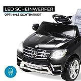 Kinder Elektroauto Mercedes ML 350 Original Lizenz Auto 2X 25 Watt Motor Kinderauto Kinderfahrzeug Elektroauto (Schwarz) Test