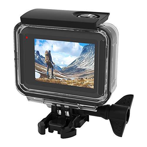 TUTUO Wasserresistente Schutzhülle Gehäuse Kompatibel für GoPro Hero 8 Action Kamera, 60m Tauchen Case Schutzgehäuse Shell mit Quick Release Berg und Rändelschraube für GoPro Hero 8 Action Kamera