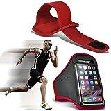 I-Sonite (Red) Justierbarer Sweatproof/Wasser-beständiger Sport-Eignungs-Laufender Turnhallen-Armband-Telefon-Fall für Nokia Lumia 930 [ XL ]