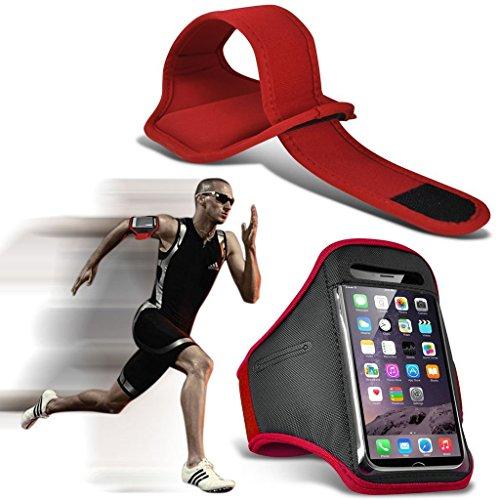 erbarer Sweatproof/Wasser-beständiger Sport-Eignungs-Laufender Turnhallen-Armband-Telefon-Fall für LG G4 Stylus 3G [ XXL ] ()