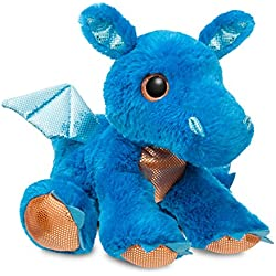 Aurora World 60859 Sparkle Cuentos Flash dragón de Peluche, Azul, 30,5 cm