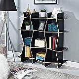 XQY Hauptschlafzimmer-Bücherregal-Bücherregal-Moderne kreative Einfachheit Multi-Schicht Multifunktions Zwei Farben-wahlweise freigestelltes (118 * 34 * 118Cm), Studenten-Schlafsaal-Bett Bücherregal,