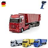 Mercedes-Benz Actros - RC ferngesteuerter LKW mit Kipper, Truck, Fahrzeug, Motorsound, LED's, Komplett-Set ink. Fernsteuerung