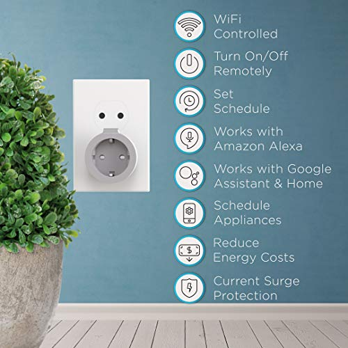 PowerBear Smart Schaltbare Steckdose [Smart Home & WiFi] Handy Bedienbar Steckdose kompatibel mit Alexa und Google Home [24 Monat Garantie]