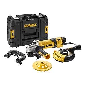 Dewalt DWE4257KT-QS Elektronik de Amoladora de ángulo hormigón 125mm–1500W, 240V, dwe4257kt de QS, 2 W, 240 V