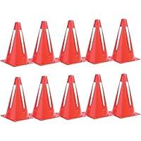Plegable Flexible espacio seguridad fútbol RUGBY entrenamiento marcador conos (Set de 10)