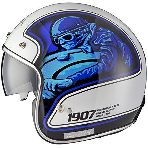 Black Moto Racer Dition Limitee Casque Jet De Moto Ou Scooter