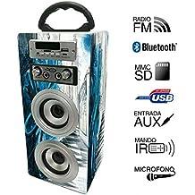 Altavoz Portátil Karaoke con Bluetooth USB SD Micrófono Radio (E025-7)