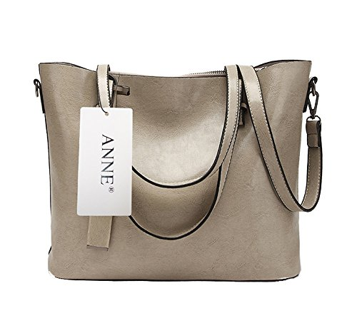 Anne, Borsa tote donna marrone Red Wine Grey